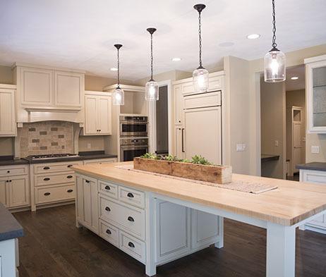Custom Kitchen White Cabinets
